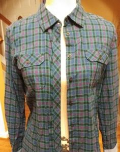 Talbots size small plaid button up top